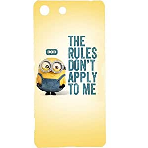Casotec Minion Rules Design Hard Back Case Cover for Sony Xperia M5 Dual