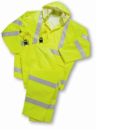 West Chester 4033/XXXXXL Hi Vis Rain suit Class 3, 5XL, Lime (Pack of 10) (Rain Suit 5xl compare prices)