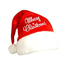 Stylla Men Women Christmas party red santa hat high quality soft and fluffy