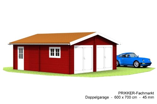 Blockhaus-Doppelgarage-Carport-600-x-700-cm-45-mm-Garage-Doppel-Garage