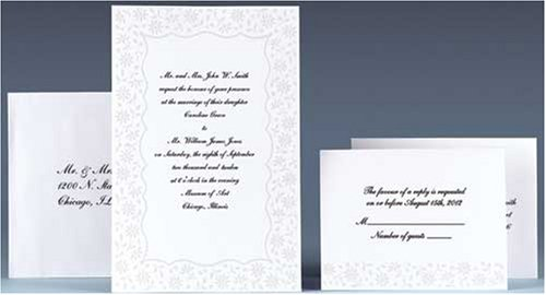 Wedding Invitation Kits Michaels: Wilton Wedding Invitations Flirty Fleur Complete