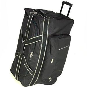 Borderline Extra Large 30 Inch Wheeled Holdall Bag Black by Borderline