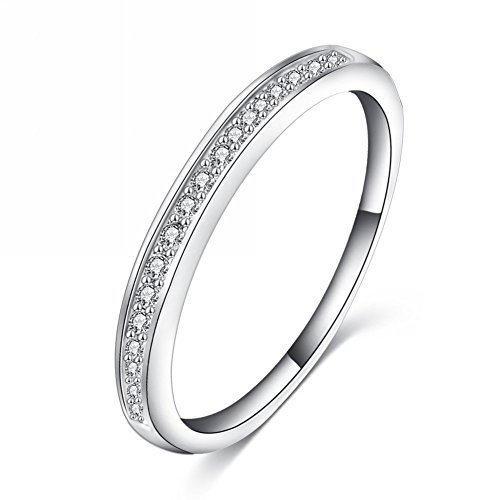 Jewels-Galaxy-Luxuria-Platinum-Plated-Simple-Style-Tiny-Zirconia-Inlayed-Ring-For-WomenGirls