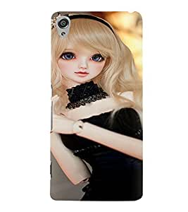 Printvisa Baby Doll Dressed Up In Black Back Case Cover for Sony Xperia XA