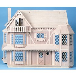 The Harrison Dollhouse Kit - Greenleaf