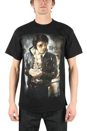 Elvis Presley - Photo Adult T-Shirt in Black, Size: XX-Large, Color: Black