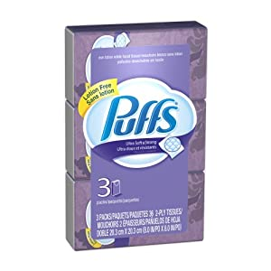 Puffs Ultra Soft and Strong Facial Tissues, Lotion Free, To Go, 36-Count (Pack of 32) (Packaging May Vary)