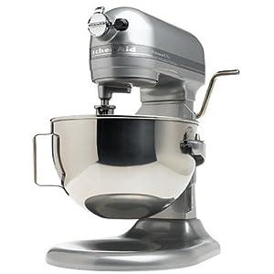 KitchenAid Professional Lift Mixer RKG25H0XMC, 5 Plus Bowl, Metallic Chrome, (Certified Refurbished)