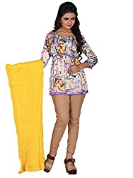 Khushali Prerents Stylish and Versatile Cotton Women's Dupatta(Yellow)