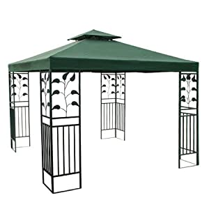 Two Tiered Gazebo Replacement Canopy Top Green : Patio, Lawn & Garden