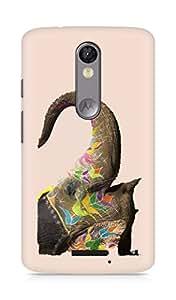 Amez designer printed 3d premium high quality back case cover for Motorola Moto X Force (Elephant India)