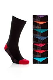 7 Pairs of Cotton Rich Freshfeet Tartan Socks with Silver Technology [T10-0108S-S]