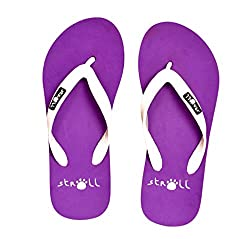 Stroll Womens Casual Eva Flip Flops Purple 8 UK