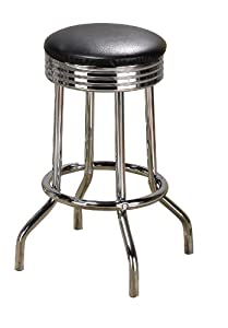 Amazon Com Poundex Swivel Bar Stools 24 Inch Height In