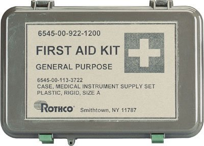 Tactical First Aid Kit: Olive Drab Waterproof General Purpose Military First Aid Kit by Rothco