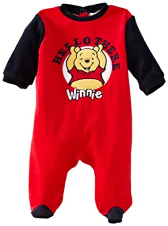 Winnie the Pooh Baby Romper Suit Red/Dress Blue 12 Months