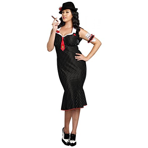 GSG Gangster Costume Adult Roaring 20s Bonnie and Clyde Halloween Fancy Dress (Bonnie Clyde Costume)