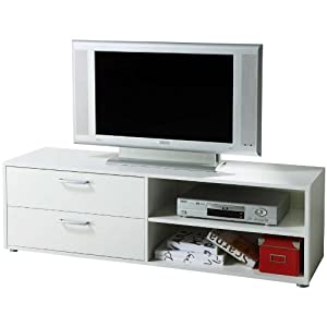 tv mobile moderno soggiorno cassetti bianco TV2857 L139h43p40: Amazon ...