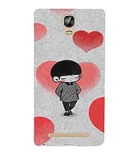 EPICCASE Lover Boy Mobile Back Case Cover For Gionee Marathon M5 Plus (Designer Case)