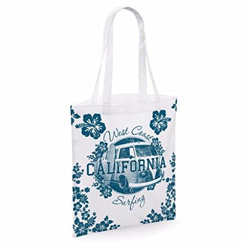 Tote bag pour femme Imprimé West California imprimé sac épaule sacs en toile