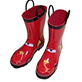 Disney Cars Kid's Lightening Mcqueen Boy's Red Rain Boots (Toddler/Little Kid)