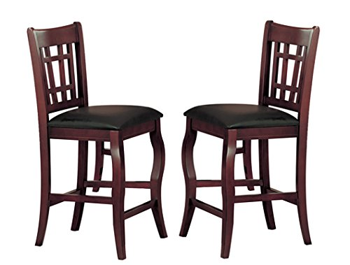 ... Counter Height Chair, Cherry, Set of 2 Furniture Chairs Folding Chairs