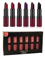 Golden Rose Velvet Matte Lipstick Dark Colors Set of 6