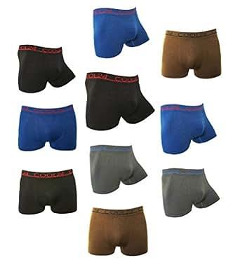 Pack de 10 COOL24 Boxers en microfibre sans couture - Homme - S