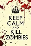 (24x36) Keep Calm and Kill Zombies Humor Print Poster