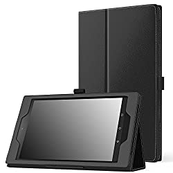 MoKo Case for All-New Amazon Fire HD 8 (2016 6th Generation) - Slim Folding Stand Cover with Auto Wake / Sleep for Fire HD 8 Tablet (6th Gen, 2016 release Only), BLACK