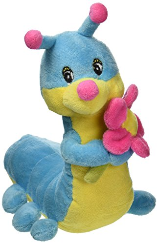 Dogit Luvz Plush Toy, Catepillar, Blue, Small
