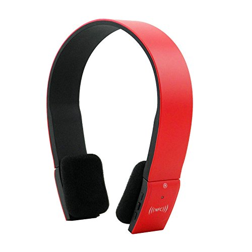 2.4Ghz Nfc Stero Bluetooth Headset Headphone 2Ch Edr Mic For Iphone Smartphone (Red)