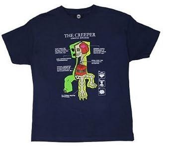 Minecraft Creeper Anatomy Youth Kids Child T-shirt XS