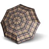 Knirps T2 Duomatic Folding Umbrella 28 cm braun check