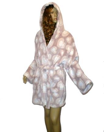 New look robe de chambre courte en polaire avec capuche - Robe de chambre femme polaire avec capuche ...