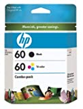 HP 60 Ink Cartridge in Retail Packaging, Combo Pack (CD947FN#140)