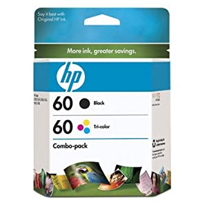 Original HP 60 Ink Cartridges Combo-Pack (Black & Tri Color)