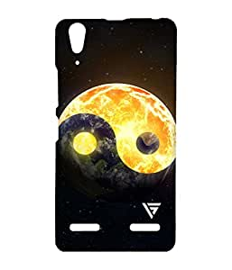 Vogueshell Earth Of Fire Printed Symmetry PRO Series Hard Back Case for Lenovo A6000