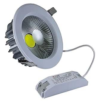V tac 1104 vt 2620 spot led encastrable rond lumi re for Spot encastrable exterieur diametre 100