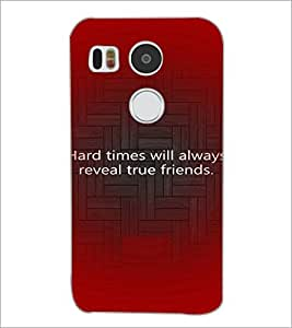 PrintDhaba Quote D-3926 Back Case Cover for LG NEXUS 5X (Multi-Coloured)