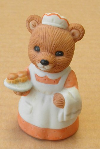 Homco Ceramic Bear Holding Muffins - 2 3/4 inches