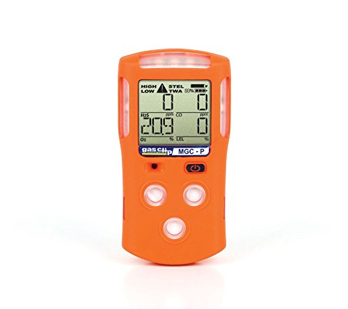 Gas Clip Technologies MGC-P Multi Gas Clip Pellistor, Rechargeable 25 hours Runtime, 4-Gas Detector with Pellistor LEL Sensor, Tests for H₂S, CO, O₂ and LEL (4 Gas Sniffer compare prices)