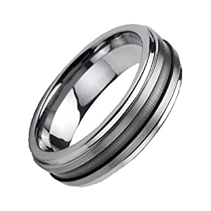 6mm Polished Tungsten Ring