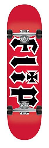 FLIP Team HKD Skateboard Completes (Red, 7.5 x 31.25)