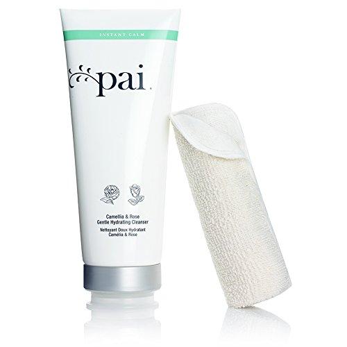 Pai Skincare Camellia & Rose Gentle Hydrating Cleanser for Sensitive Skin (Organic) 200ml & Dual-Effect Sensitive Skin Muslin Cloth