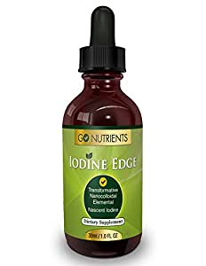 Nascent Iodine Supplement - High Potency Liquid Drops for Thyroid Support - One Bottle Last 3 Months - Iodine Edge