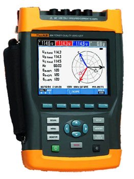 Image of Fluke 434 HandHeld Power Quality Analyzer Meter (434/003)