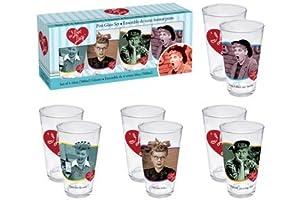 Aquarius I Love Lucy 4 Piece Pint Glass Set from Aquarius