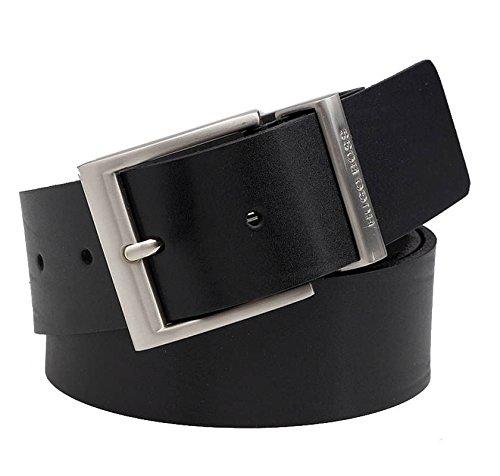 HUGO BOSS Cintura in Pelle Nera BUD B50126900F 105 cm