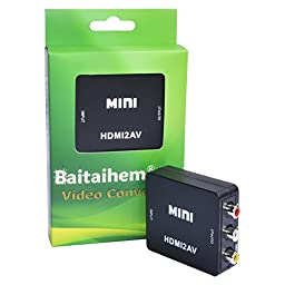 Baitaihem HDMI to AV Composite RCA CVBS Video + Audio Signal Converter For TV PS3 PS4 VHS VCR DVD